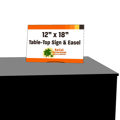 "12"" x 18"" Table-Top Sign and Easel"