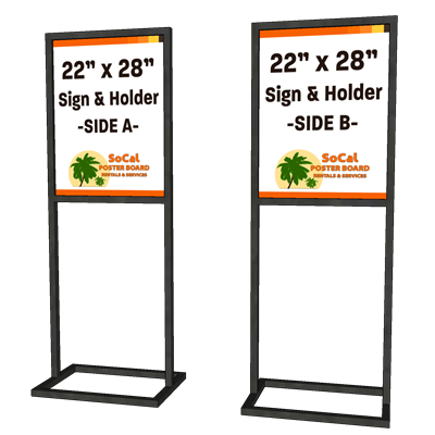 "22"" x 28"" Sign and Holder"