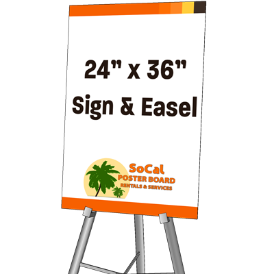 "24"" x 36"" Sign and Easel"