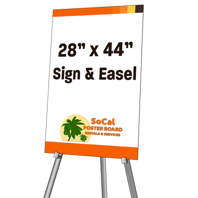 """28"""" x 44"""" Sign and Easel"""