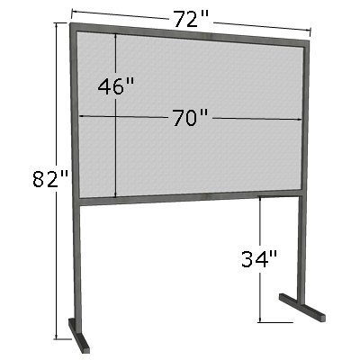 4' x 6' Horizontal Poster Board