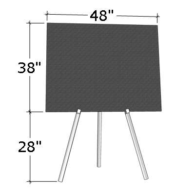 "38"" x 48"" Poster Board on Easel"